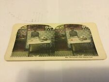 1900's Black Americana History Stereoview Card-Mrs. Newlywed'S New Wench Cook