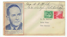 DOUGLAS McARTHUR PATRIOTIC COVER WWII-ERA SENT BY N.J.NATIONAL GUARD MEMBER