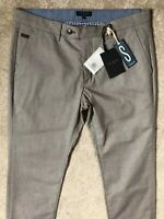 "TED BAKER BEIGE ""BUGGLES"" SLIM FIT TROUSERS PANTS CHINOS - 34S - NEW & TAGS"
