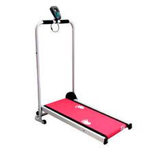 Cinta mini de correr, Andadora plegable para casa, cardio fitness color rosa
