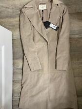 HALSTON Size XS Beige Faux Suede Belted Jacket