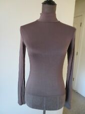 Wet Seal Mock Neck Purple Brown Long Sleeve Shirt - Small