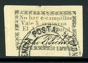 "MAGDALENA RIO HACHA Early Selections: LOT #2 5c Type 2 Border ""V"" under ""No"" $$$"