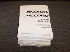 2003 2004 2005 Honda Accord Sedan Parts Catalog Manual DX LX EX 2.4L 3.0L V6