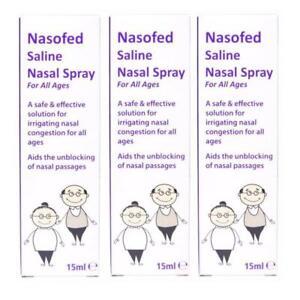 3 x Nasofed Saline Nasal Spray For All Ages 15ml