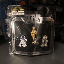 BUCKET R2-D2 C-3PO Star Wars Celebration 2019 Exclusive Pin Set of 3 Droids