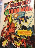 "Giant-Size Iron Man 1st Issue, 1975 First App of Hawkeye from T of S ""57"