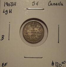 B Canada Edward VII 1903H Lg H Silver Five Cents - EF