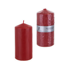 "Mega Candles - Unscented 3"" x 6"" Round Pillar Candle - Red, Set of 6"