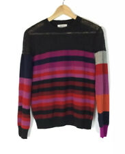 Sonia Rykiel Striped Pink Red Black Knitted Jumper Sweater Pullover S 8