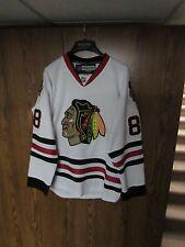 NHL HOCKEY PATRICK KANE CHICAGO BLACKHAWKS Jersey Reebok sz men's 50 fight strap