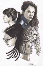 Orphan Black  Clone Club original artwork by Brian Kong Comic Art