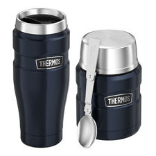 Thermos Vacuum Insulated Stainless Steel Travel Tumbler And Food Jar 16oz (Blue)