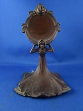 ancien porte montre gousset art nouveau cuivre nouille decor femme epoque 1900