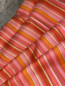 Vintage Cotton Rayon Tussah Fabric 1 23 Yards Textured Stripe Red White Blue 1970s Nubby Boucl\u00e9 Fabric  59 Wide  #902
