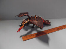 PAPO Medieval War Fire Breathing Fantasy  DRAGON Black/Bronze with Saddle 2007