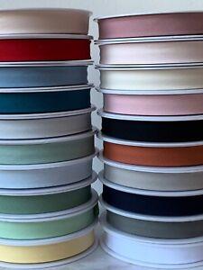 French Organic Soft Cotton Bias Binding Folded GOTS FABRIC 20MM - by the metre