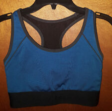 BCG Sports Bra Size S Small Blue Black Keyhole Back Yoga Running Workout Gym