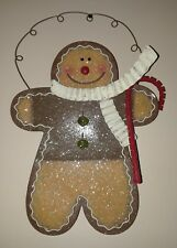 GINGER BREAD Wall Hanger for Holidays Metal Decorative