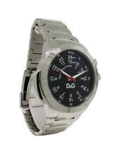Dolce & Gabbana Time DW0569 Men's 12 & 24 Hour Black Round Analog Watch