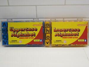 Upper Lower Case Alphabet Letters Rubber Stamp Set Teach Educational Insight Lot