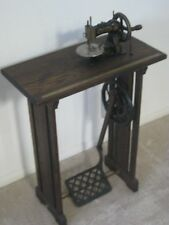 ANTIQUE RARE LITTLE HUSTLER CHILDS TOY TREADLE AND HAND SEWING MACHINE