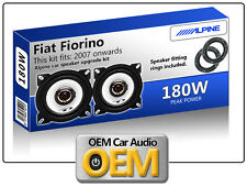 Fiat Fiorino Front Door speakers Alpine car speaker kit with Adapter Pods 180W