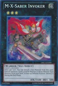 1X NM M-X-Saber Invoker - ORCS-EN099 - Secret Rare - Unlimited Edition