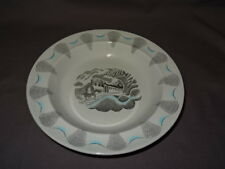 """WEDGWOOD ERIC RAVILIOUS TRAVEL SERIES 9"""" RIMMED DISH - STEAM ENGINE"""