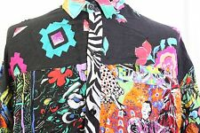 Jams World Zebra Striped Floral Art Geometric Abstract Mens hawaiian shirt Large