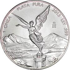 Mexico Libertad 1 oz 2013 .999 Fine BU Silver Coin Uncirculated