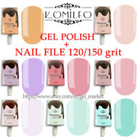 KOMILFO LED UV Summer Collection GEL NAIL POLISH 8ml + GIFT Nail File 120/150