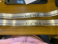 Nissan MICRA K12 Sill Entry Guards Genuine Accessories 3door Models.