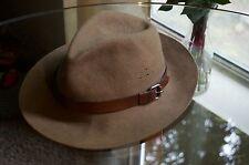 dorfman pacific hat Vintage Indiana Jones Style %100 Wool Hat Olive Green USA