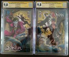 80 ANNIVERSARY Catwoman/Joker NEAL ADAMS signed SS CGC 9.8 two book set