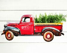 "Christmas Tree Truck Fabric , 36"" Panel, Loads of Cheer, 72424A, TheFabricEdge"