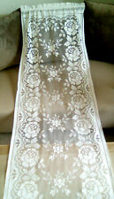 French Vintage White Long  Lace Curtain Panel
