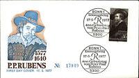 Ersttagsbrief 1977 FDC Stempel Bonn Erstausgabe 30 Pfennig Peter Paul RUBENS