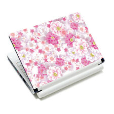 """Pink Flower Universal Laptop Sticker Decal Skin Cover For 14"""" 15"""" 15.6"""" Notebook"""