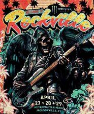 ROCKVILLE FESTIVAL 2018 BLACK T-SHIRT/Jacksonville SZ: XL~NEW~