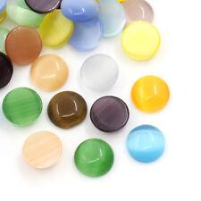 PD: 100 Mix Rund Katzenauge Perlen zum Kleben 8mmD.