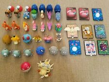 Lot of 37 Burger King Pokemon Toys, Squirters, Power Cards, Spinners, Launchers