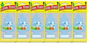 LITTLE TREES Car Air Freshener Hanging Paper Tree Home Car Summer Linen 6 Pack