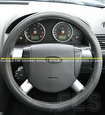 UNIVERSAL FORD FAUX LEATHER LOOK BLACK STEERING WHEEL COVER