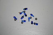 lot 10 gyrophare bleu 1/43 bases noires pompier eligor tp militaire beacon light