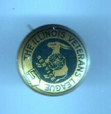 1940s pin Illinois VETERAN's League Service pinback button