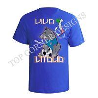 Mens T-Shirt Italy Football Mascot EURO 2016 Italia Shirt New Sizes S-XXL