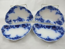 Johnson Bros Flow Blue Peach Royal Set of 4 Bone Dishes Set 3 of 3 Gold