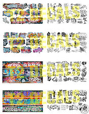 N Scale Custom  Graffiti Decals MEGA SHEET #5