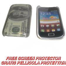 Pellicola+custodia BACK COVER US DOLLAR per Samsung Galaxy Y Duos S6102